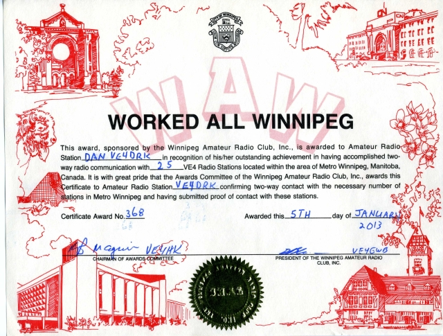 Worked All Winnipeg Award
