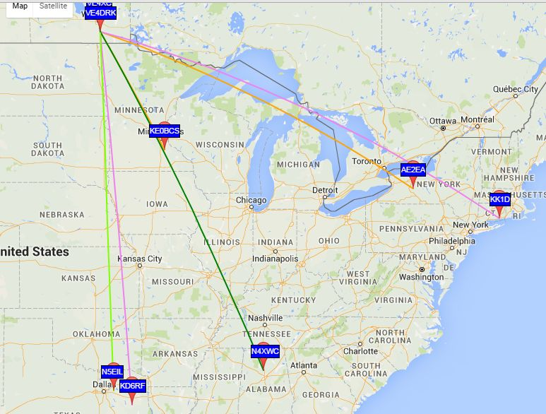 20m WSPR sightings - so-so