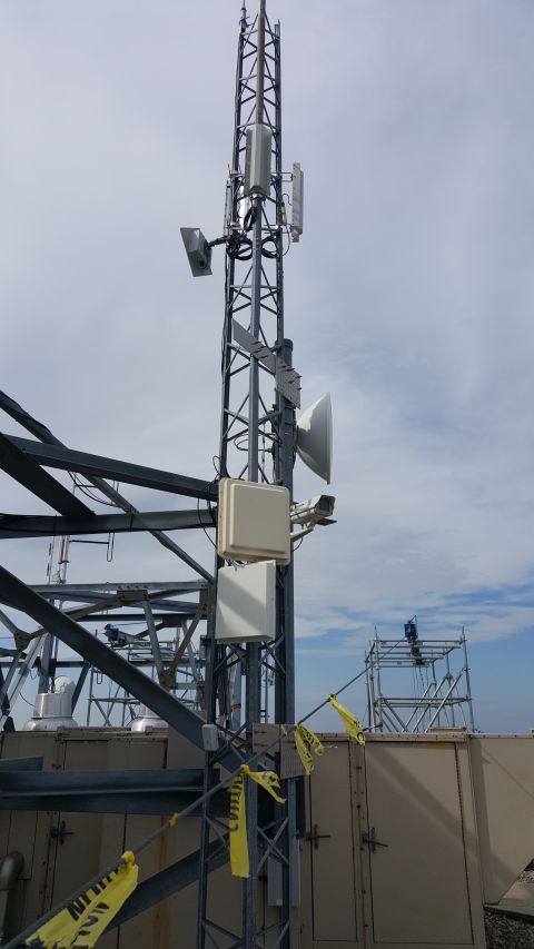 existing tower on 55n with all it's gear :-)